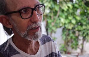 Filósofo e professor José Antonio Saja prestigiou o evento e conversou com a Agenda Arte e Cultura. Foto: Virgínia Andrade
