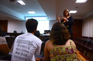 A pró-reitora Blandina Viana falou sobre a extensão na UFBA. Foto: Edvan Lessa