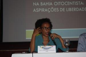 A professora Wlamyra, da FFCH-UFBA. Foto: Lucas Caldas / Ascom FPC