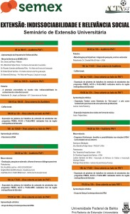 Banner Programacão_SEMEX2013