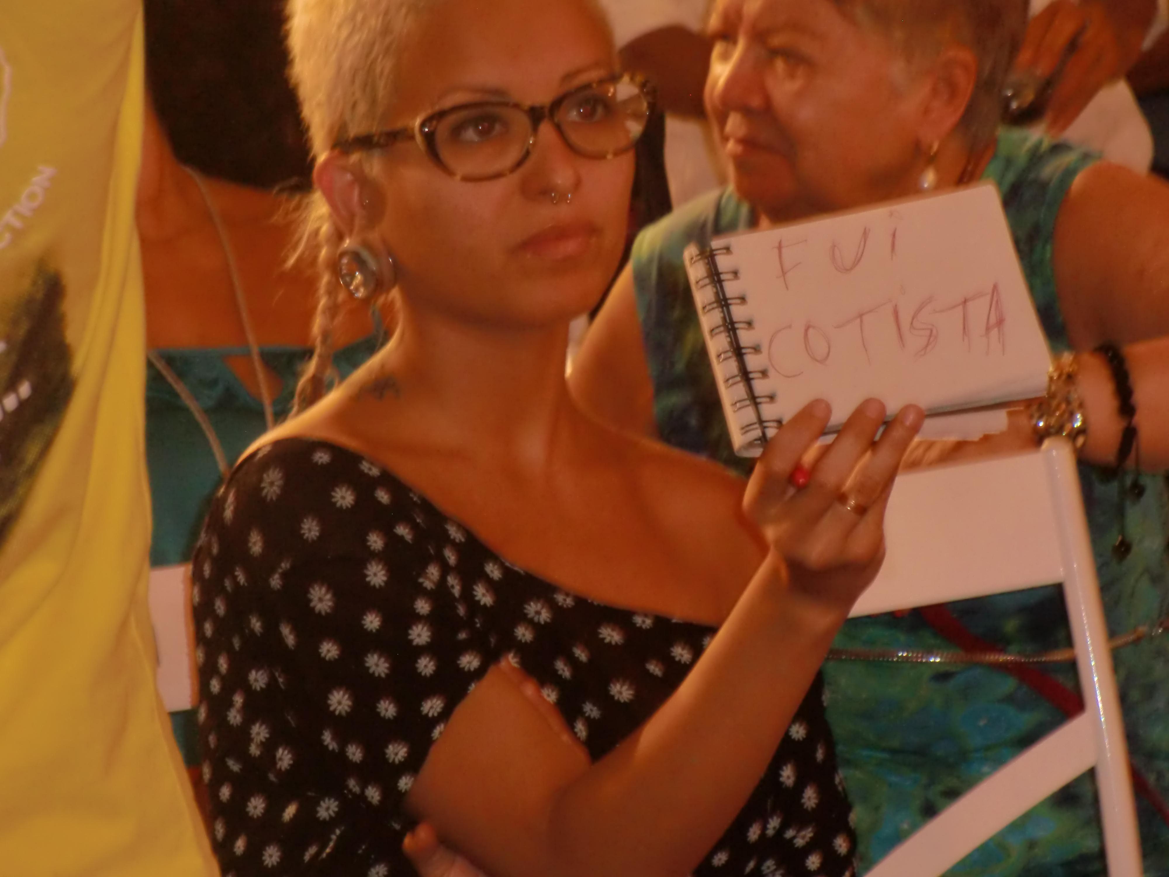 Protesto silencioso de estudante cotista Foto: Gustavo Salgado