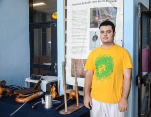 Felipe Abreu expôs suas criações com instrumentos experimentais. Foto: Rayssa Guedes