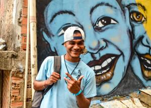 B-boy Jeomar.  Foto: Rayssa Guedes