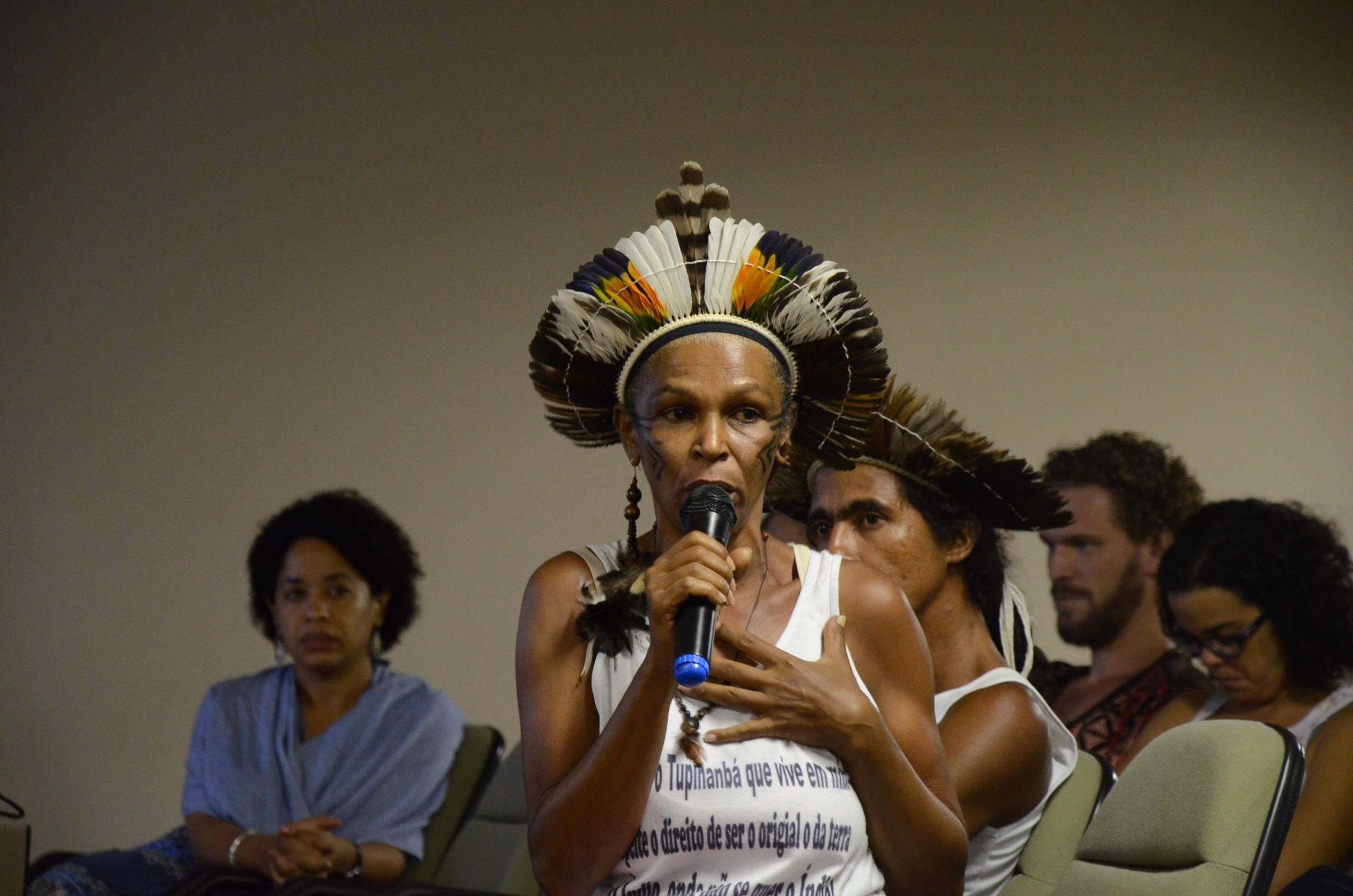 Tainã Andrade questiona o lugar de fala sobre os indígenas no Brasil. Foto: Gustavo Salgado