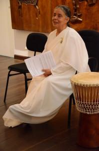 Ida Meirelles, coordenadora da Brahma Kumaris Nordeste, abriu o evento com uma palestra sobre o tempo. Foto: Gustavo Salgado
