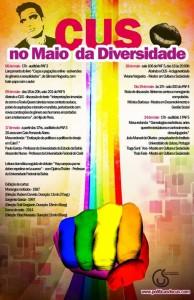 Programação do Maio da Diversidade promovido pelo CUS