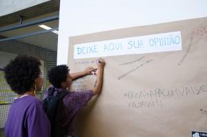Participantes compartilharam impressões em mural disponibilização pela organização do evento / Foto: Greice Mara