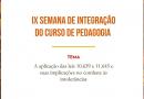 IX Semana de Integração acontece na FACED