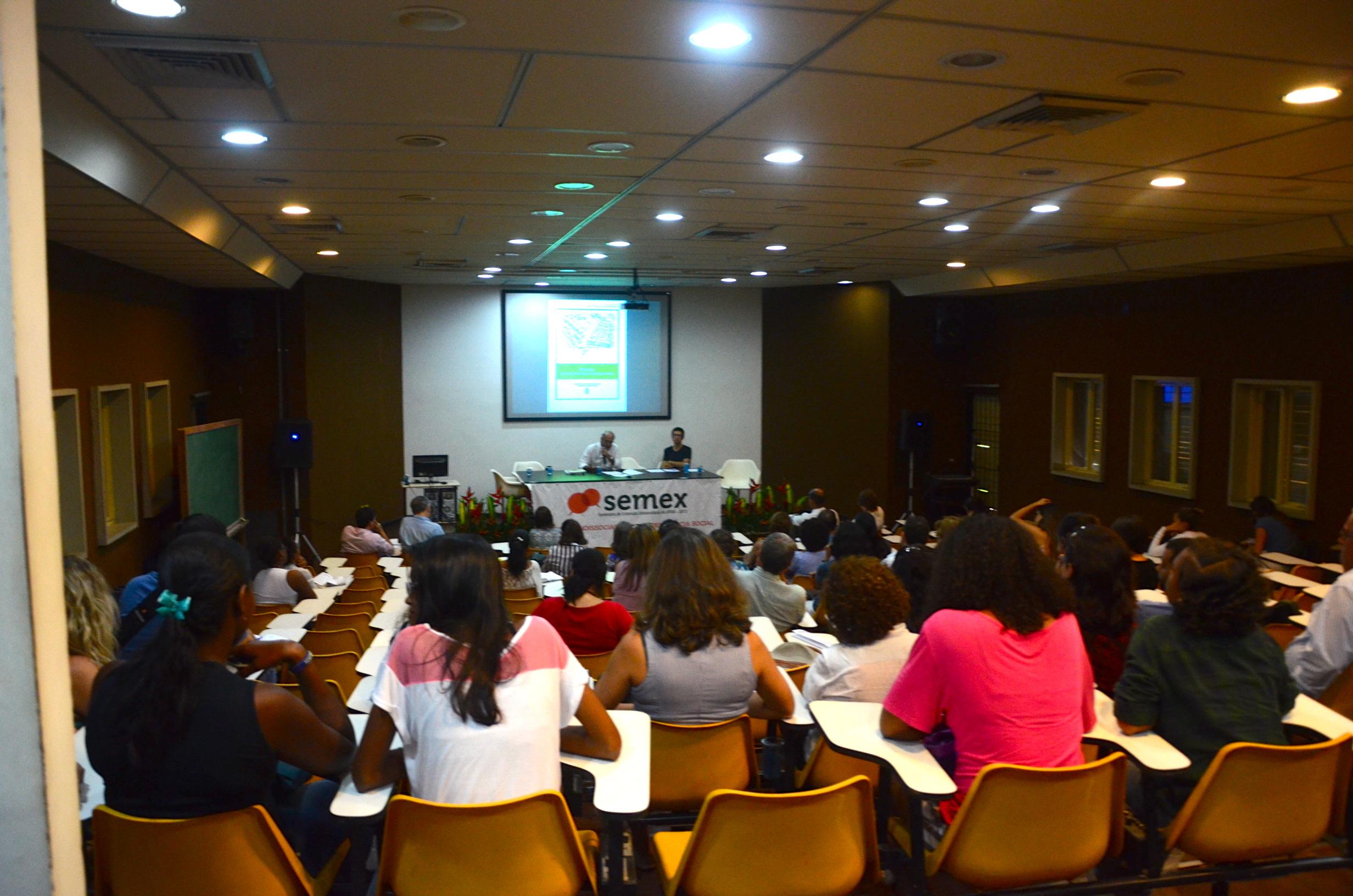 Palestra de abertura do Semex com Jorge Luiz Barbosa. Foto: Lorena Caliman