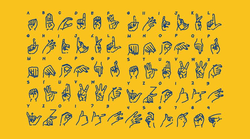 Imagem com o Alfabeto em Libras.