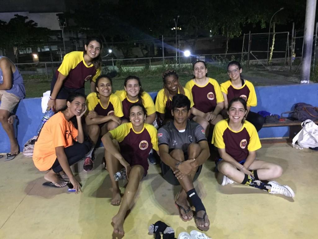 Time de futsal feminino da Athena (Foto: Divulgação)