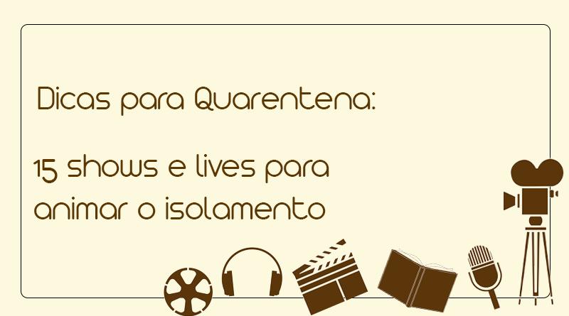 banner quarentena lives