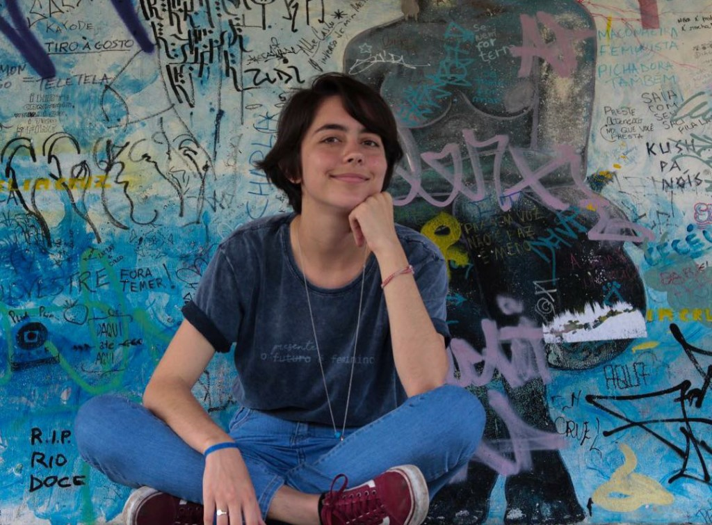 Marina Hortélio é diretora da Atlética da Facom (foto: acervo pessoal)