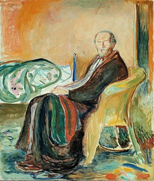 """""""Autorretrato"""", de Edvard Munch (1919)"""