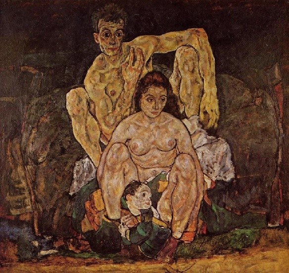 """A família"", de Egon Schiele (1918)"