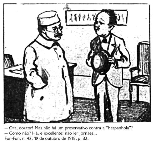 Charge da revista Fon-Fon (1918)