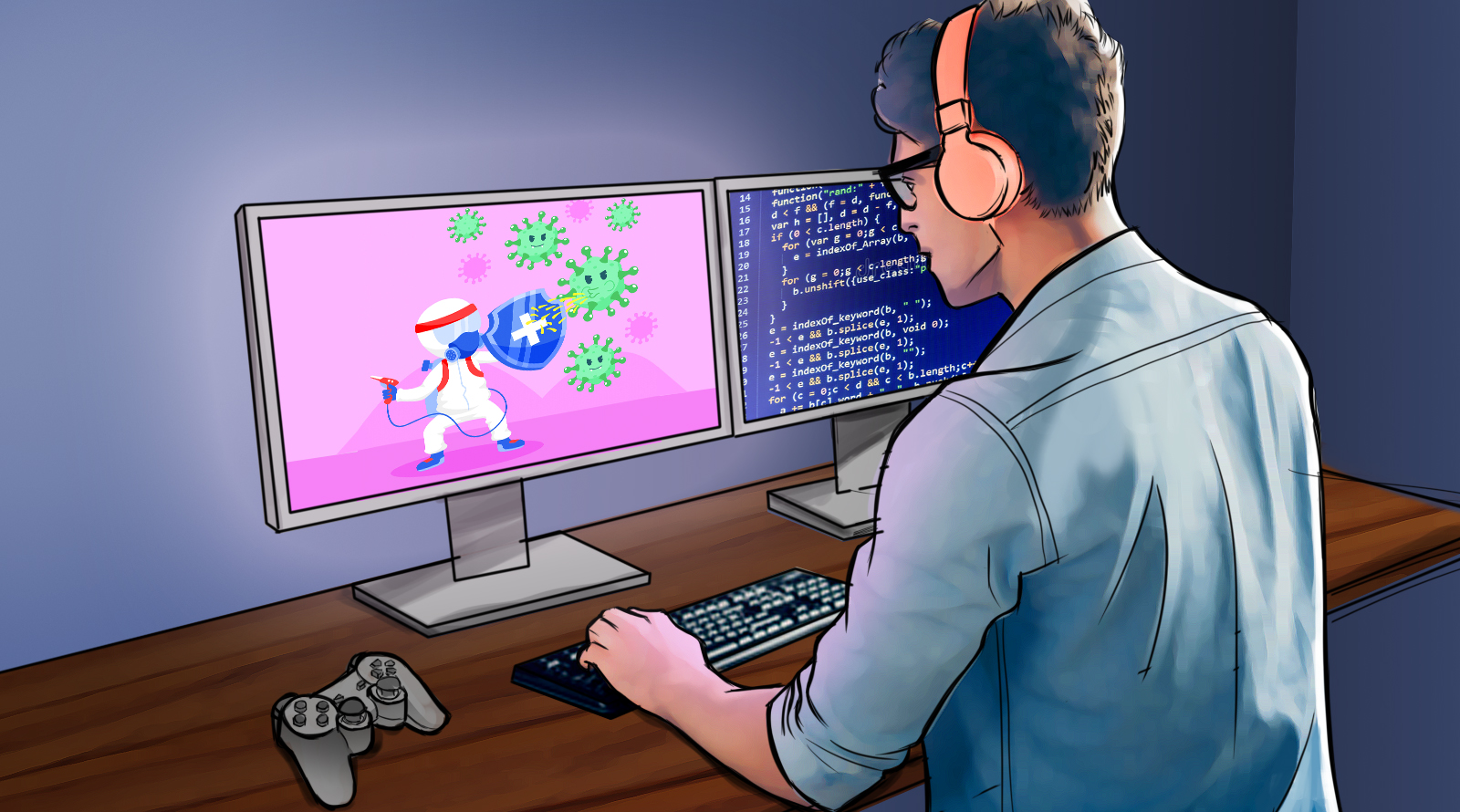 Estúdios de games jogam a fase pandemia