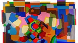 """A obra """"Fronteira Físico/Digital"""" do artista Bel Borba foi dividida em 100 partes iguais, que foram colocadas à venda tanto fisicamente como virtualmente, em NFT. (Foto: Divulgação)"""